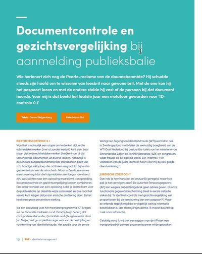 Document check and face comparison upon registration at the public counter of the city hall of Zwolle